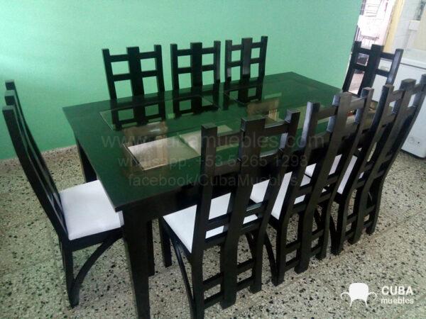 Comedor Madera Torres 6 plazas.