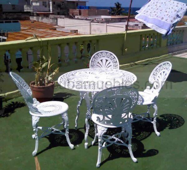 Set de Mesa y 4 Sillas - Terraza