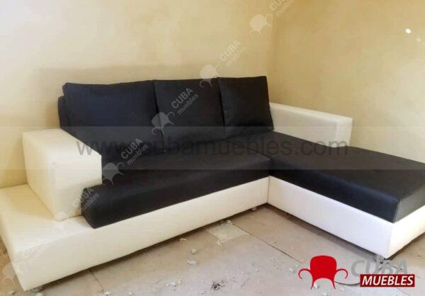 VENECIA Chaise Longue - negro y beige
