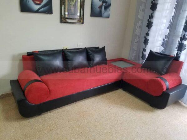 EN TOCK: Esquinero Cleopatra en negro y rojo.