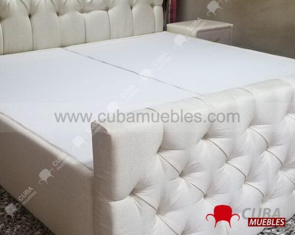 Cama Capitoneada DOBLE - KING SIZE (2 x 2m)