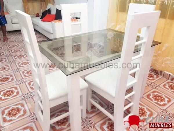Comedor IMAGEN 4 Sillas Blanco